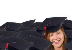 Glücklicher Absolvent lizenzfreie stockfotografie