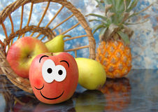 Glücklicher Apfel Lizenzfreies Stockfoto