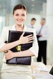 Glücklicher Arbeitgeber Stockbild