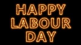 Glücklicher Arbeitstagestext, Hintergrund der Wiedergabe 3d, kann für festliches Design der Feiertage benutzt werden vektor abbildung