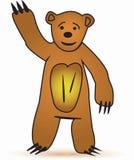 Glücklicher Bär Stockbild