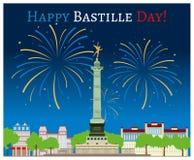 Glücklicher Bastilletag Stockbilder