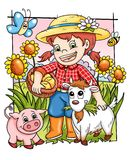 Glücklicher Bauernhof