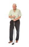 Glücklicher beiläufiger fälliger Golfspieler Lizenzfreie Stockfotografie