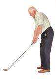 Glücklicher beiläufiger fälliger Golfspieler Lizenzfreie Stockbilder