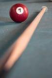 Glücklicher billard 7 Ball Lizenzfreie Stockfotografie