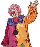 Glücklicher bunter Clown Waving vektor abbildung