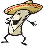 Glücklicher Burrito Lizenzfreie Stockfotografie
