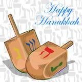 Glücklicher Chanukka-Festivalfeierhintergrund stock abbildung