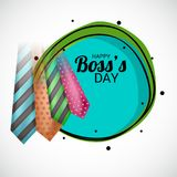 Glücklicher Chef ` s Tag stock abbildung