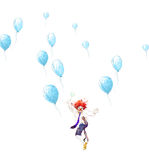 Glücklicher Clown Stockfoto