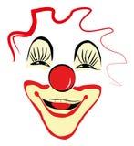 Glücklicher Clown Face Design Stockfotografie