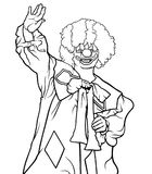 Glücklicher Clown Waving stock abbildung