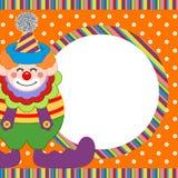 Glücklicher Clownrahmenhintergrund vektor abbildung