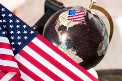 Glücklicher Columbus-Tag Vereinigte Staaten kennzeichnen lizenzfreies stockbild