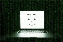 Glücklicher Computer lizenzfreies stockfoto
