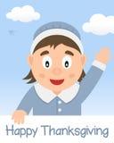 Glücklicher Danksagungs-Tag mit Hausfrau Lizenzfreies Stockfoto