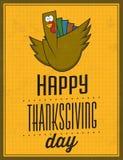 Glücklicher Danksagungs-Tag - Weinlese-typografisches Plakat Stockbild
