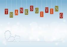 Glücklicher Danksagungs-Tageshintergrund für Feier Lizenzfreie Stockfotografie