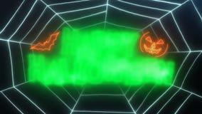 Glücklicher das Netz-Hintergrund der Halloween-Schleifen-Animations-Spinne stock video