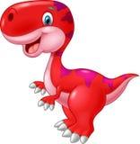 Glücklicher Dinosaurier der Karikatur Lizenzfreies Stockfoto