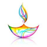 Glücklicher Diwali-Feiertag stock abbildung
