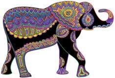 Glücklicher Elefant stock abbildung