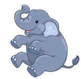 Glücklicher Elefant Stockfoto