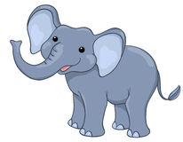 Glücklicher Elefant Lizenzfreies Stockfoto