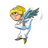 Glücklicher Engel der Karikatur Lizenzfreie Stockbilder