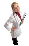 Glücklicher erfolgreicher Arzt Stockfoto