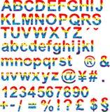 Glücklicher Farbschrifttyp Lizenzfreie Stockfotografie