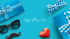 Glücklicher Father's-Tagesentwurf mit Spaßkonzept und Pastellfarbe