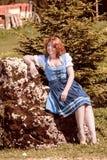Glücklicher Feiertag in den bayerischen Bergen Lizenzfreies Stockfoto