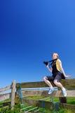 Glücklicher Fotograf im Dorf Lizenzfreies Stockbild