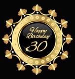 Glücklicher Geburtstag 30 Stockfotografie