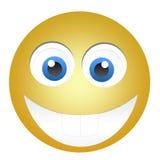 Glücklicher gelber Emoticon Lizenzfreie Stockbilder