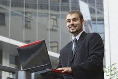 Glücklicher Geschäftsmann Lizenzfreies Stockfoto