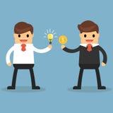 Glücklicher Geschäftsmann machen ein Abkommen über das Geschäft vektor abbildung