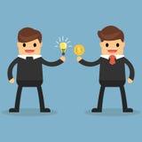 Glücklicher Geschäftsmann machen ein Abkommen über das Geschäft lizenzfreie abbildung