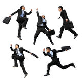Glücklicher Geschäftsmann springen Lizenzfreie Stockfotos
