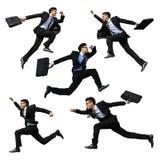 Glücklicher Geschäftsmann springen Lizenzfreies Stockbild