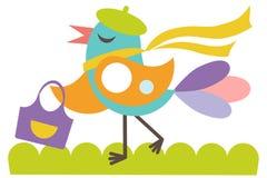 Glücklicher girlie Vogel Stockbild