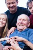 Glücklicher Großvater Stockbild
