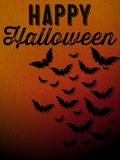 Glücklicher Halloween-Geist-Schläger-Ikonen-Hintergrund Lizenzfreie Stockfotografie