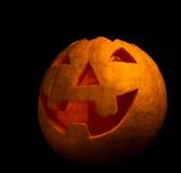 Glücklicher Halloween geschnitzter Kürbis stockbild