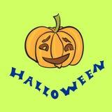 Glücklicher Halloween herausgeschnittener Kürbis Stockbild