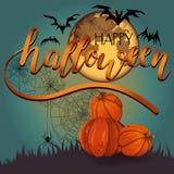 Glücklicher Halloween-Hintergrund Lizenzfreies Stockbild
