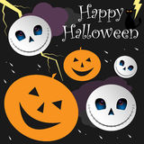 Glücklicher Halloween-Hintergrund Lizenzfreie Stockfotografie