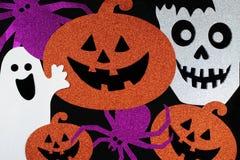 Glücklicher Halloween-Hintergrund Stockbild